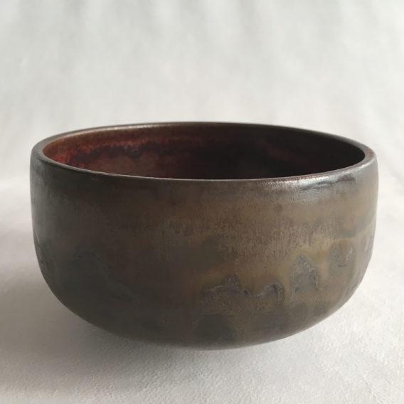 Bol brun grès céramique