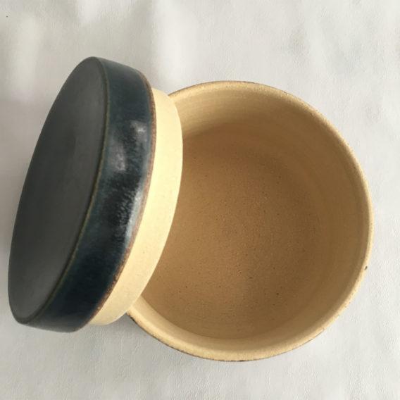 Boîte grès céramique bleu
