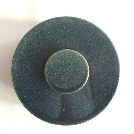 boîte bleue céramique grès