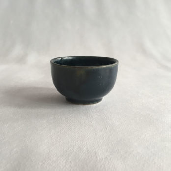 Petit bol bleu céramique grès