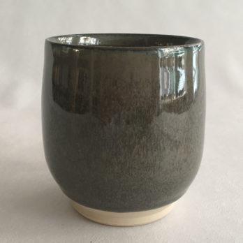 Mug céramique grès gris vert