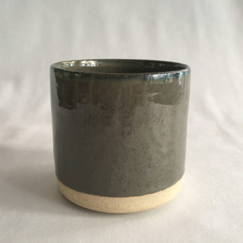 Pot gris vert céramique grès