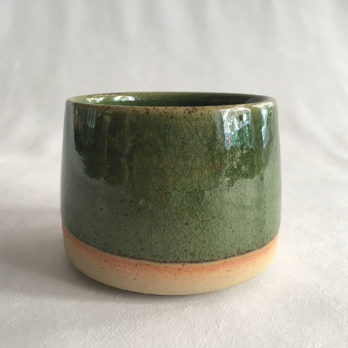 Mug vert céramique grès