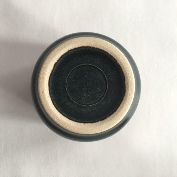 Mug bleu céramique grès