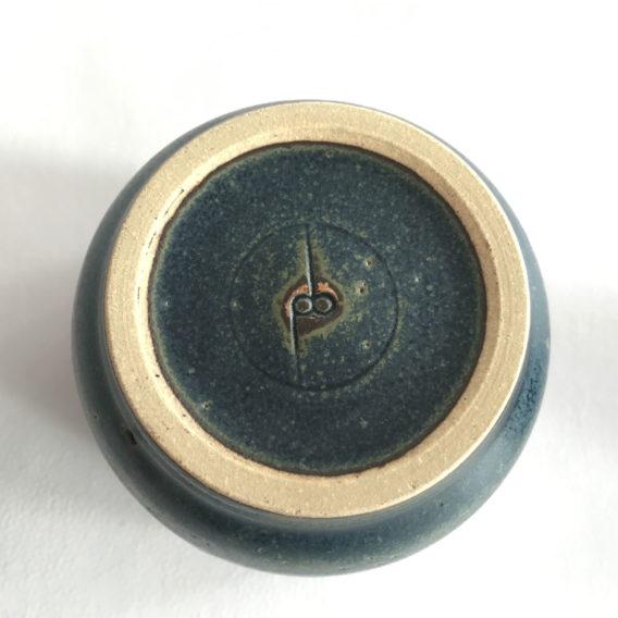 Mug grès céramique bleu