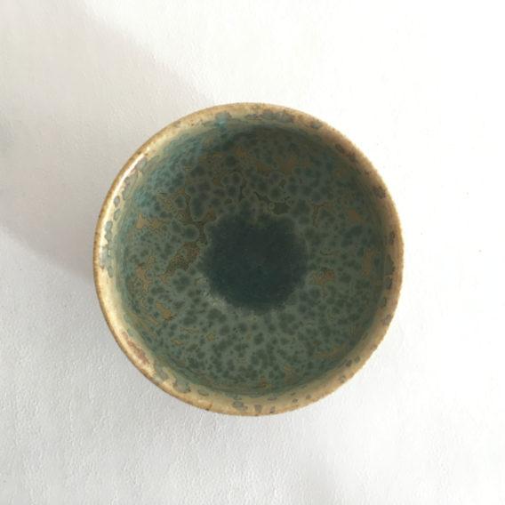 Petit bol céramique grès turquoise