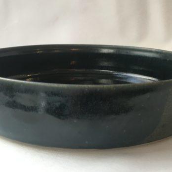 Plat céramique grès bleu medium