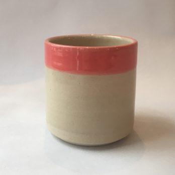Mug rose céramique grès