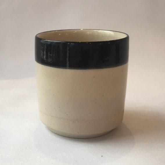mug noir et blanc céramique grès
