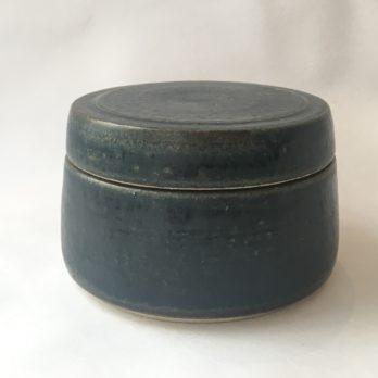 Beurrier céramique grès bleu